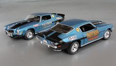 "1971 Baldwin-Motion Camaro""Chase Car 2-car Set..!"" Details - Diecast cars, diecast model cars, diecast models, diecast collectibles, and diecast muscle cars"