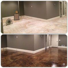 13 Basement Flooring Ideas (Concrete Wood u0026 Tile) & 12 Finishing Touches for Your Unfinished Basement   Pinterest ...