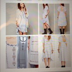 Free people dress size Med Beautiful free people dress, higher in front, low in back.  Lined with pockets.  Baby blue color! New w/o tag. Free People Dresses High Low