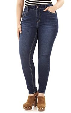 107dc704c2658 Angels Jeans Women s Plus-Size 360 Sculpt Skinny Jean   Want to know more