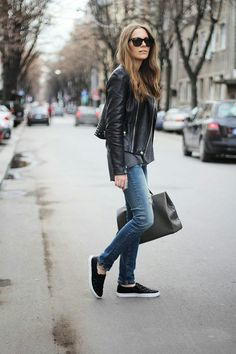 Black leather style