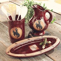 Steamboat Bronco Pottery Kitchen Accessories