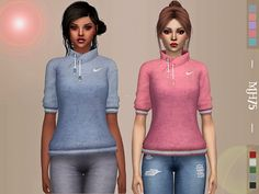 Teagan Windbreaker Tops by Margeh-75 at TSR • Sims 4 Updates