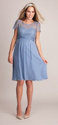 Seraphine s Cornflower Blue Silk   Lace Maternity Dress is a beautiful  option for bridesmaids or for glamorous summer occasions. 08477000003