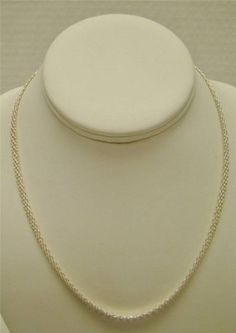 925-STERLING-SILVER-FLAT-BISMARCK-18-CHAIN-5-5MM-NECKLACE-LOBSTER-CLASP-11g