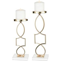 Sterling Industries Grand Palais Candle Holder Gold Metal & Acrylic (Set of Modern Candle Holders, Wood Candle Holders, Candle Holder Set, Glass Votive, Glass Candlesticks, Gold Candelabra, Pink Home Accessories, Bathroom Accessories, Ceramic Lantern