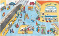 Describing a Train Station. Visit: www.emilieslanguages.com or https://www.facebook.com/emilieslanguages #emilieslanguages #station #train