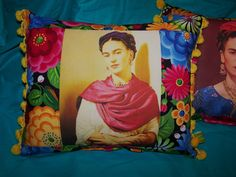 Frida Kahlo Pillows Batea Bowl Flowers Vintage by RanchoRomantico, $69.99