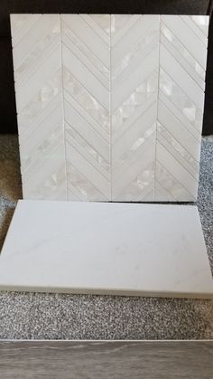Mother of Pearl Island Pearl Mosaic Tile Home Renovation, Home Remodeling, Farmhouse Renovation, Farmhouse Ideas, Bathroom Renovations, Modern Farmhouse, Farmhouse Kitchen Island, Kitchen Islands, Rustic Kitchen