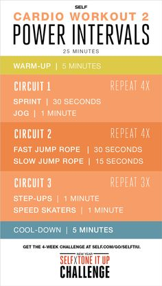 Cardio Interval Workout - Self x Tone It Up Challenge