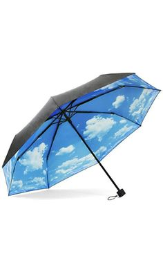 ColorDrip Unisex Adult's Blue Sky White Clouds Folding Travel Umbrella Best Price