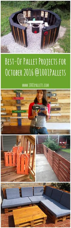 We decided to highlight the best pallet ideas & projects submitted@1001pallets during the month of October 2016. For this month,here …