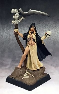 Looking for Dark Heaven Legends Miniatures We have the Female Necromancer 3751 on sale now at Dark Elf Dice. Dragon Miniatures, Reaper Miniatures, Fantasy Miniatures, Fantasy Rpg Games, Dark Elf, Necromancer, Metal Models, Mini Paintings, Magic Art