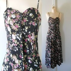 90s Floral Dress 90s Maxi Dress Long Floral by TheVilleVintage, $33.49