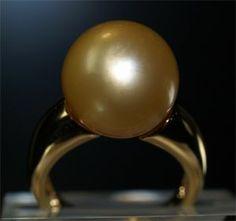 Südseeperlring aus 750er Gelbgold 13.30mm goldene Südseeperle für nur 1590.00 Euro bei www.juwelierhausabt.de