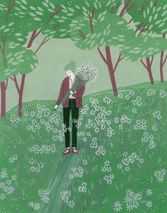 finding solace - yelena bryksenkova. summer, flowers, trees. green.