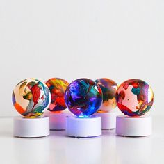 How to make colorful tea light planets – Recycled Crafts