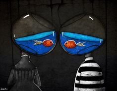 We're just two lost souls swimming in a fish bowl...