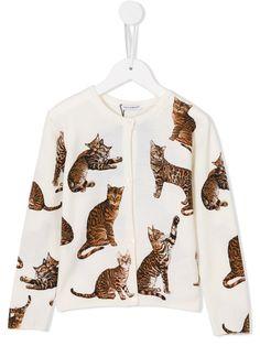 Dolce & Gabbana Kids Bengal cat print cardigan
