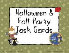 Halloween & Fall Party Task Cards $ gr 5-8 - 20 task cards that include real world word problems