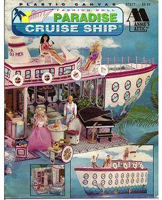 Mode Puppe Paradise Cruise Schiff Kunststoff Leinwand Muster