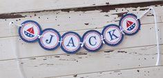 Nautical Name Banner Boy 1st Birthday by CardsandMoorebyTerri, $24.50