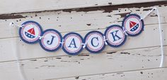 Nautical Name Banner Boy 1st Birthday by CardsandMoorebyTerri, $24.50