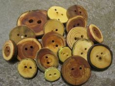 Wooden Button Grab Bag. 18 Buttons. by PymatuningCrafts on Etsy, $10.80