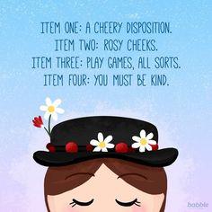 We all want a nanny just like Mary Poppins. I sang this Walt Disney, Disney Love, Disney Magic, Disney Art, Disney Dream, Disney Pixar, Disney Characters, Disney Fantasy, Mary Poppins Quotes