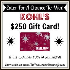 Win a Kohls gc!