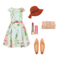 Pretty floral dress in this Easter Sunday outfit. #fashion #contest #style