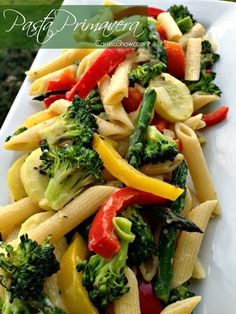 Buttery Pasta Primavera | A quick and delicious dinner that the whole family will like!