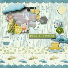 A picture of my daughter.  Kit used:  Muddy Puddles by SAS Designs available at http://bit.ly/1HYalRA  Template by Southern Serenity.