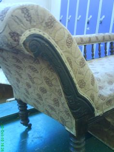 Its condition was desperate, the upholstery had collapsed all over and the material ! Restoration, Upholstery, Lounge, Couch, Furniture, Home Decor, Chaise Longue, Airport Lounge, Tapestries