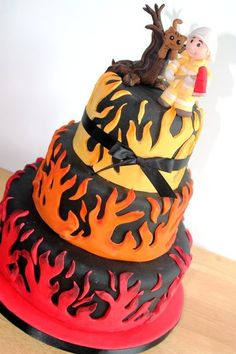 Firefighter cake I made for a Houston Firefighter who was about to