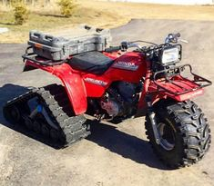 1985 Tracked Honda ATC250ES BIGRED Triumph Motorcycles, Honda Bikes, Custom Motorcycles, Yamaha Atv, Ducati, Trike Motorcycle, Motorcycle Quotes, Bike Trails, Dirt Biking