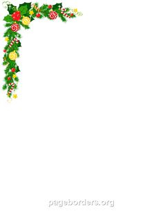 Printable Christmas corner border. Use the border in Microsoft Word or other programs for creating flyers, invitations, and other printables. Free GIF, JPG, PDF, and PNG downloads at http://pageborders.org/download/christmas-corner-border/