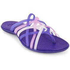 0056ef919c5e Crocs Women s Huarache Flip Flop ( 30) ❤ liked on Polyvore featuring shoes