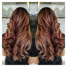 Red Highlights on black, brown, blonde hair ❤ liked on Polyvore featuring accessories, hair accessories, hair and red hair accessories