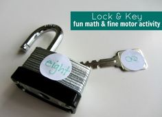 Fun math activity that lets kids self check their answers with a locks and keys.
