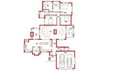 3 Bedroom House Plan – My Building Plans South Africa Split Level House Plans, Single Storey House Plans, Square House Plans, Metal House Plans, Architect Fees, House Plans South Africa, Construction Drawings, Marketing Budget, Bedroom House Plans