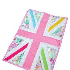 quilt shop calendar fine art | Union Jack multi coloured Cot Quilt