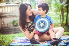 Family photo. Kids, children, fun, colors, baloon, photography, inspiration, photoshoot, session, boy, super hero, captain america.