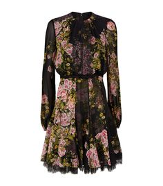 Giambattista Valli Rose Midi Dress | Harrods.com