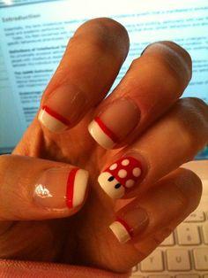 Super Mario nails #mushroom