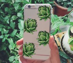 Customer Pictures for iphone 6s case @starrybuy #iphonecase #Songta  Buy it: https://www.starrybuy.com/collections/clear-phone-case/products/translucent-silicone-clear-case-gel-cover-for-apple-iphone-watercolor-green-leaves