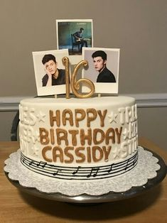 Shawn Mendes cake (I need it for my birthday now! Birthday Cakes For Men, Best Birthday Gifts, 16th Birthday, Cake Birthday, Birthday Cake For Husband, Happy Birthday, Birthday Recipes, Birthday Stuff, Birthday Bash