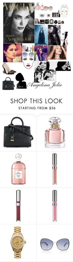 """""""angelina Jolie"""" by styler208 ❤ liked on Polyvore featuring Guerlain, Giuseppe Zanotti, Vanity Fair, Chantecaille, Rolex, ANGELINA, Tom Ford and Christian Louboutin"""