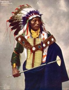 High Hawk, Council Chief, Oglala Lakota. 1899. Photo by Heyn Photo Read more at https://indiancountrytodaymedianetwork.com/gallery/photo/20-remarkable-hand-colored-portraits-american-indians-15749820 Remarkable Hand-Colored Portraits of American Indians - ICTMN.com