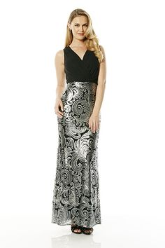 Laundry by Shelli Segal Sequin and Chiffon Blouson Gown